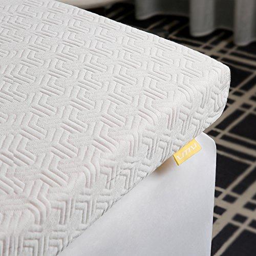 mehrsch umiger topper von uttu 2 lagig 6 cm kern waschbarer bezug gel topper aus gelschaum. Black Bedroom Furniture Sets. Home Design Ideas